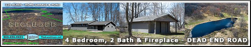 White Pine Eagle Island - House Garage Private Pond for Sale