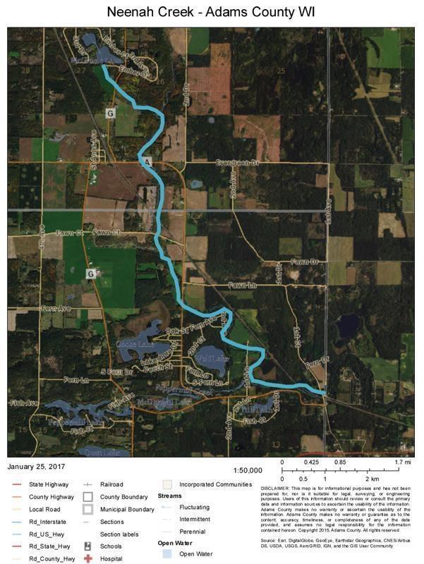 Neenah Creek Adams County WI