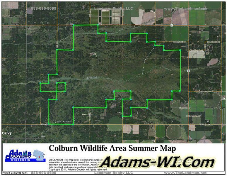 Public Hunting Land Wisconsin Map.Adams County Wisconsin Public Land State Natural Areas