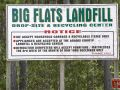 Big Flats Landfill Sign