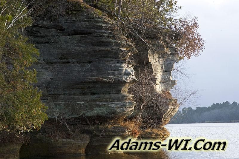 Sandstone Rock Formations carved by the Wisconsin River
