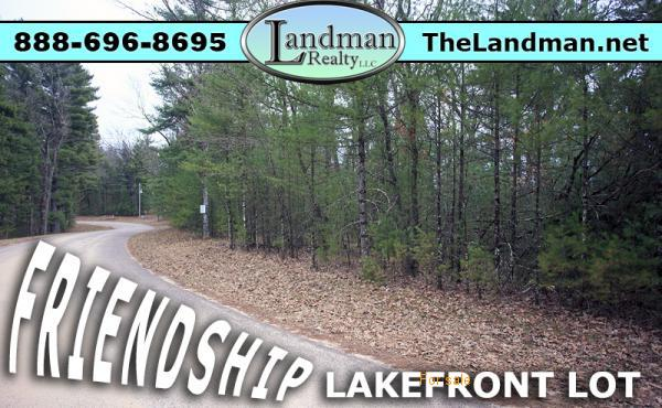 Friendship Lakefront Building Site Property for Sale Adams County Wisconsin