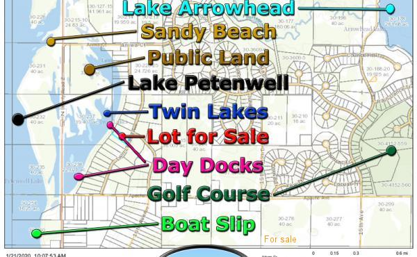 Twin Lakes Lot for Sale & Boat Slip Adams County Wisconsin