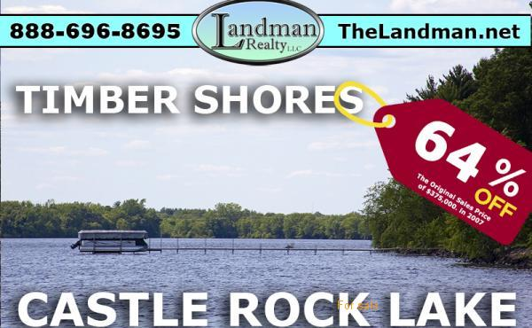 Castle Rock Lake Waterfront Lot For Sale in Adams County WI